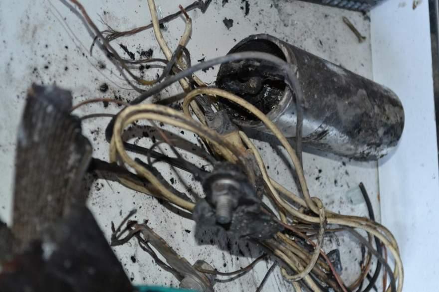 Explosão de capacitador causou sinistro - Crédito: Diego Foppa - Folha de Candelária
