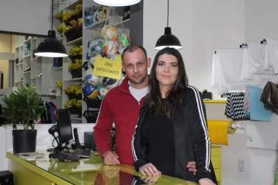 Carin Gewehr e Alexandre Türk: o casal proprietário da loja