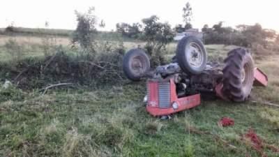 Acidente agrícola mata agricultor no Corredor dos Renner