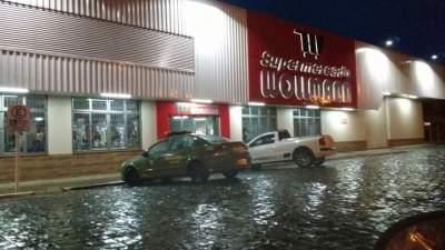 Gerente do Supermercado Wollmann é agredido após roubo frustrado