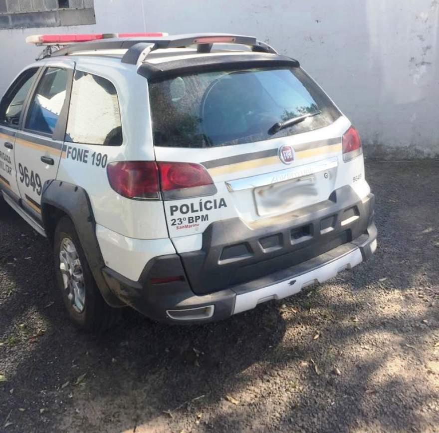 Brigada Militar conduziu um dos deles para a DP de Candelária; o outro está no Hospital Candelária (Foto: Diego Foppa)