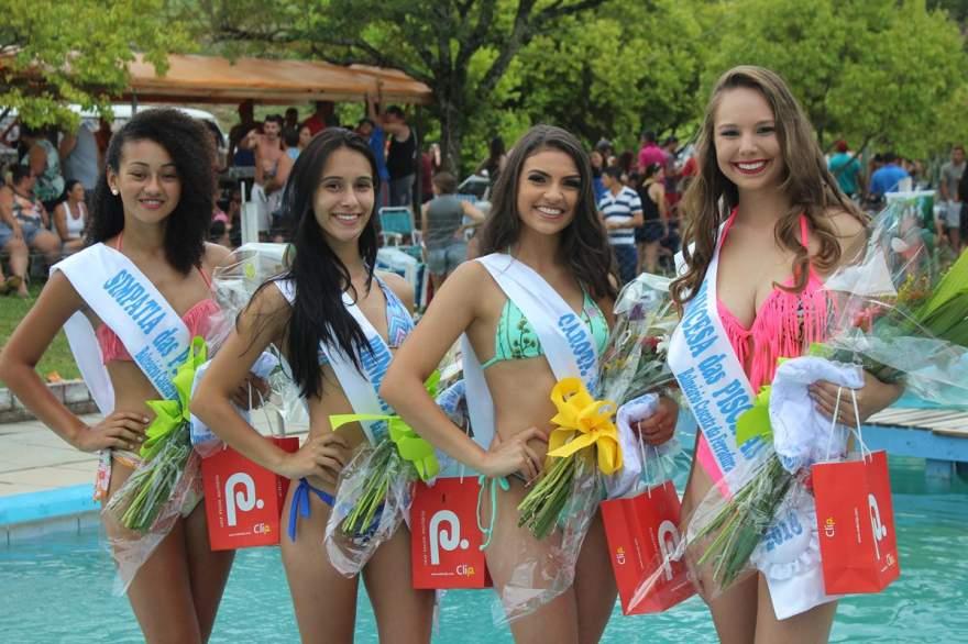 Paula, Andriele, Kauane e Mayara: a nova corte do Garota das Piscinas