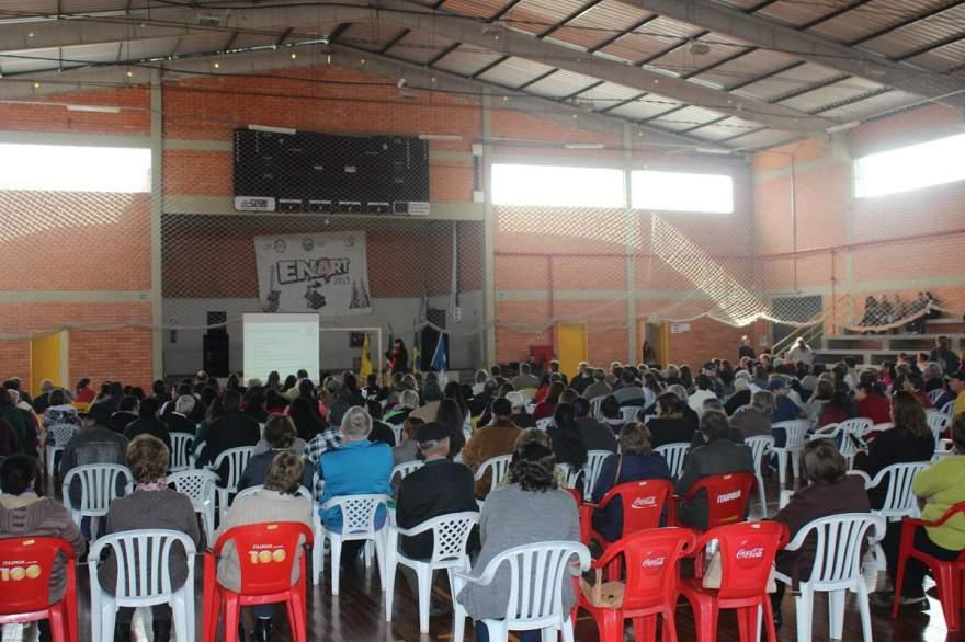 Público acompanhou a palestra no Gigante do Botucaraí