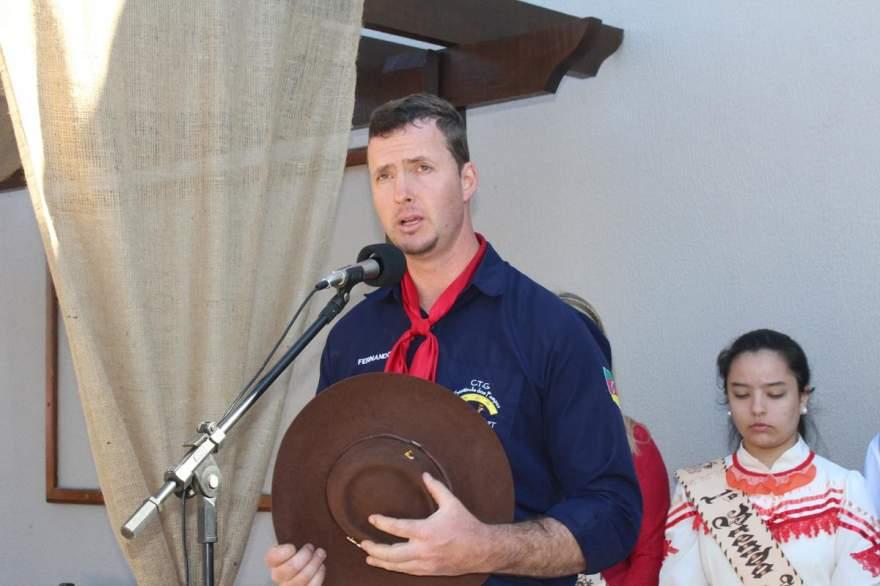 Coordenador do Grupo de Cavalgada Valter Fernando Schmidt Auler