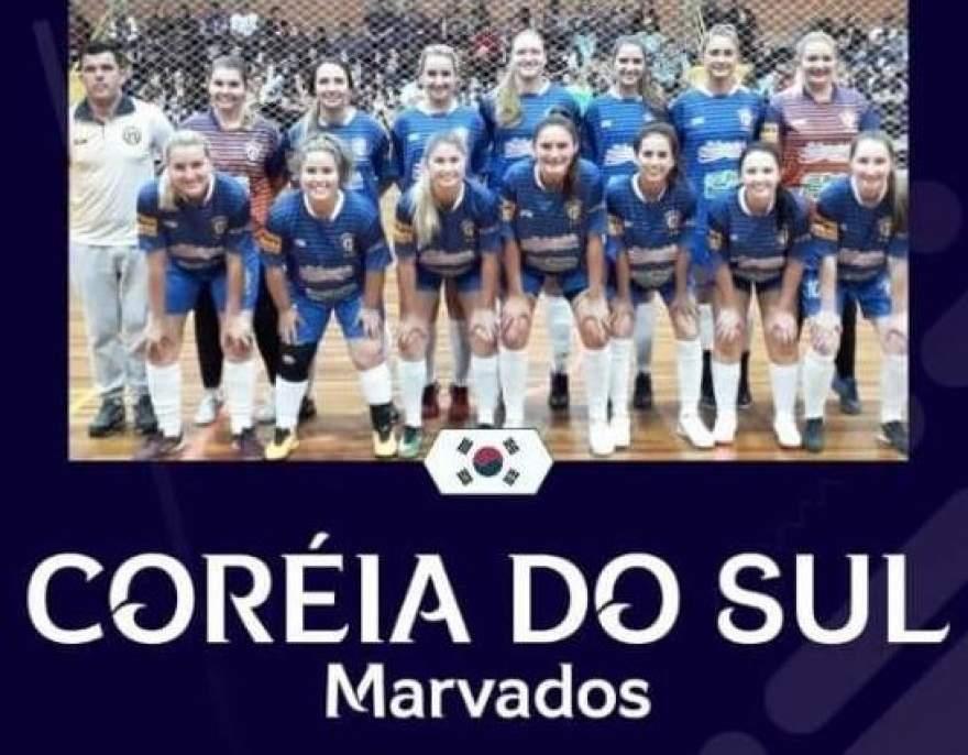 Marvados feminino representará a Seleção da Coreia do Sul no Mundial de Futsal Feminino, que será disputado em Santa Cruz do Sul