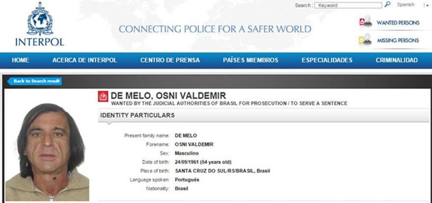 Sapo chegou a ser procurado pela Interpol - polícia internacional