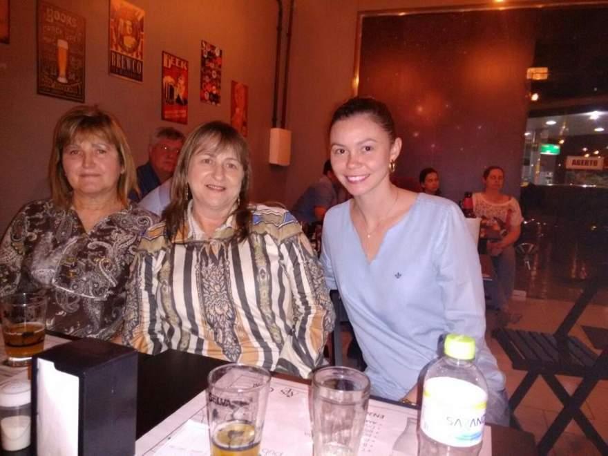 Anneli Mess, Elaine Behling e Ginevra da Silveira