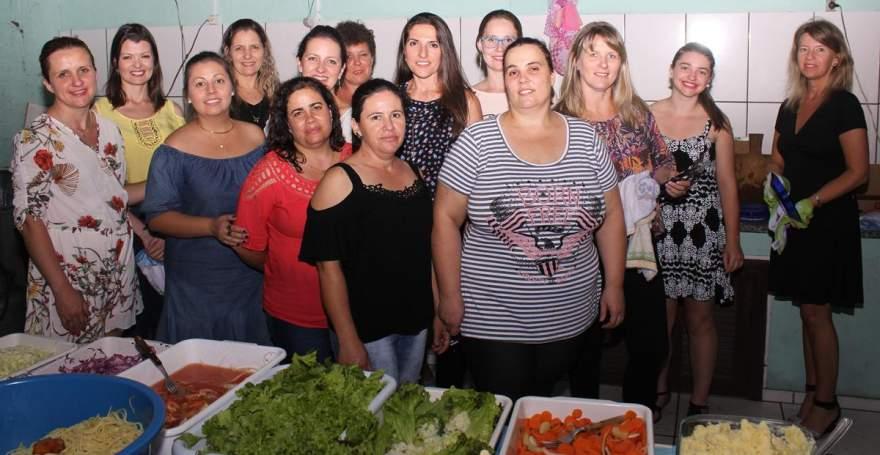 A equipe da cozinha