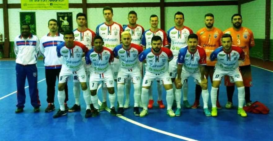 A equipe do Atlético que conquistou uma importante vitória em Fontoura Xavier