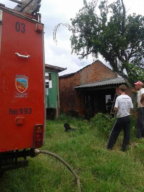Ocorrência foi atendida pelo Corpo de Bombeiros Voluntários de Candelária