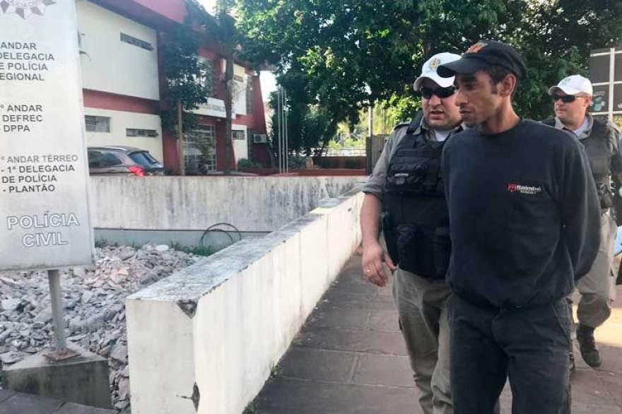 Aldenir Pereira se entregou após cometer o crime. Crédito: Fernanda Szczecinski/Gazeta do Sul