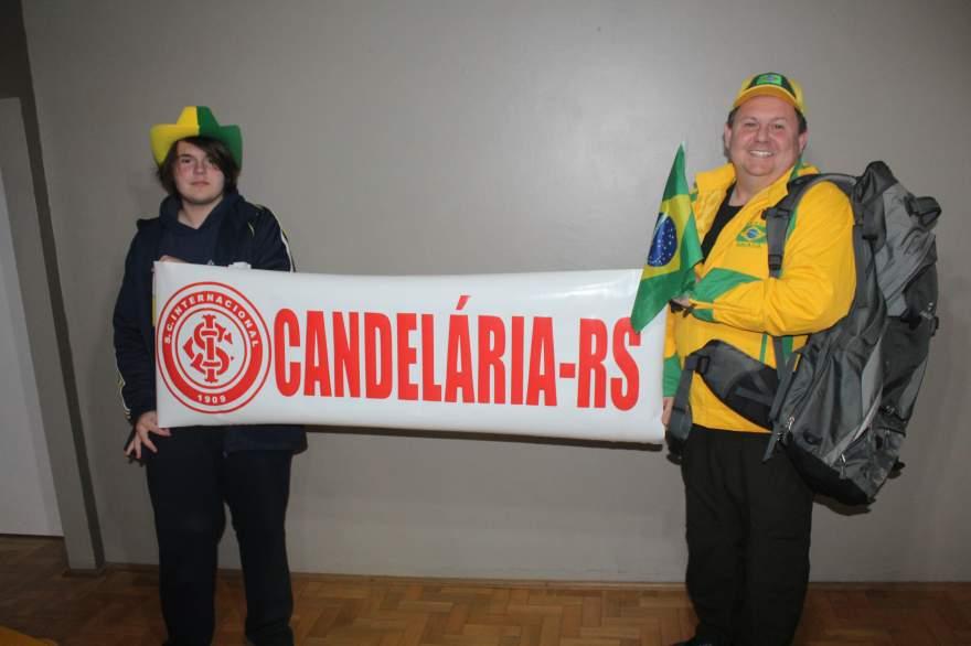 João Vitor e Marcos irão levar a faixa com o nome de Candelária nos jogos do Brasil na Copa do Mundo da Rússia