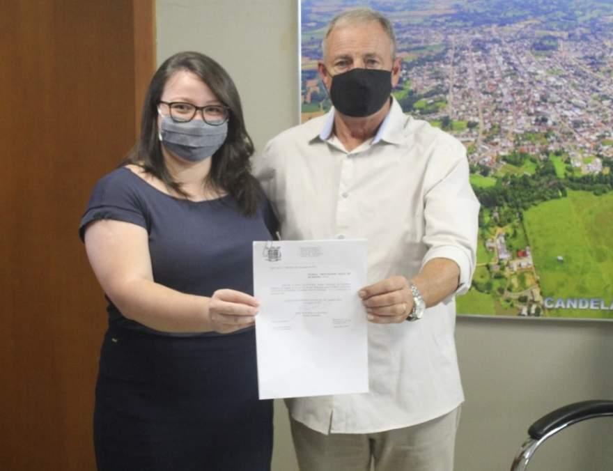 Rim com a procuradora do município, Franciele Schröder