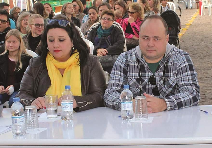 Patrícia e Mateus no júri do Festival da Canção Estudantil deste ano