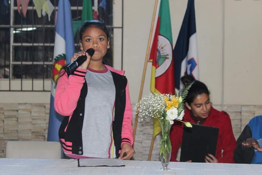 A candidata Taíssa Lourenço Alves