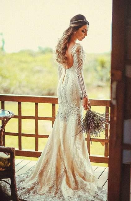 A elegante noiva Samanta Wisbeck Tolotti