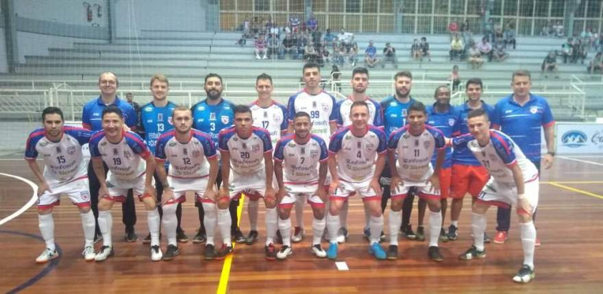 A equipe do Atlético que empatou em 4 a 4 contra o Três Coroas Futsal