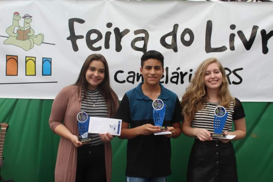 Heloísa, Elias e Yasmin: os vencedores da categoria intantojuvenil