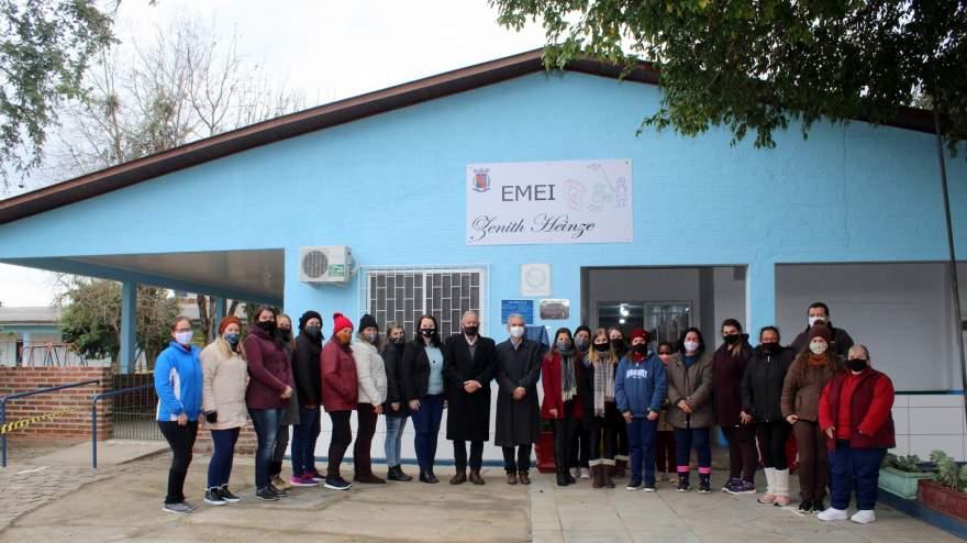 EMEI Zenith Heinze inaugura nova cobertura e reforma de parte elétrica