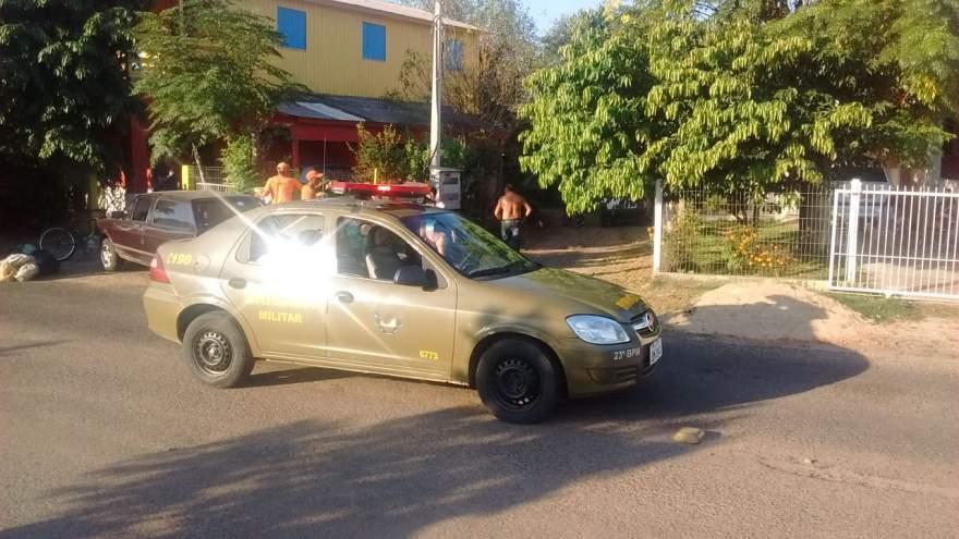 Perseguição terminou em tiroteio na rua da Praia - Fotos: Divulgação / Whatsapp