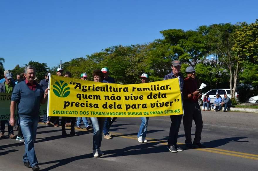 Mobilização buscou defender direitos da agricultura familiar