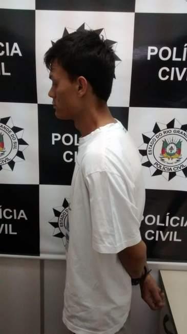 Guilherme Leite Severo, 24 anos, detido por violência doméstica