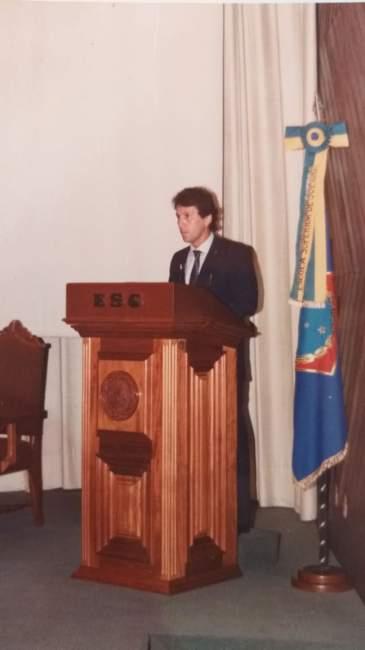 Palestra de Zico no Rio de Janeiro prestigiada pela delegação do Atlético - Arquivo Rodolfo Feldmann