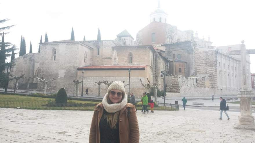 A candelariense em Valladolid, cidade onde ocorreu o intercâmbio