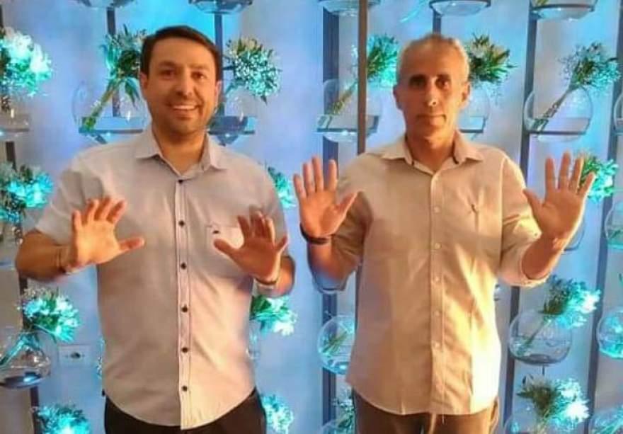 Betinho Loebens e Ernesto Tavares, candidatos a vice e a prefeito, respectivamente, pelo Republicanos