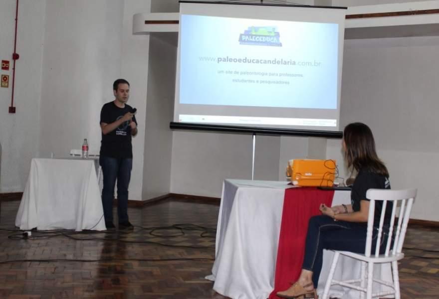 Diego dos Santos apresentou o site construído durante o curso
