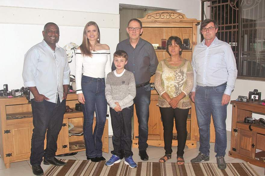 Lauro Gomes, Roana Borstmann, Thomas e Jorge Mallmann, Santa Marlene de Oliveira Paranhos e Roque Radtke