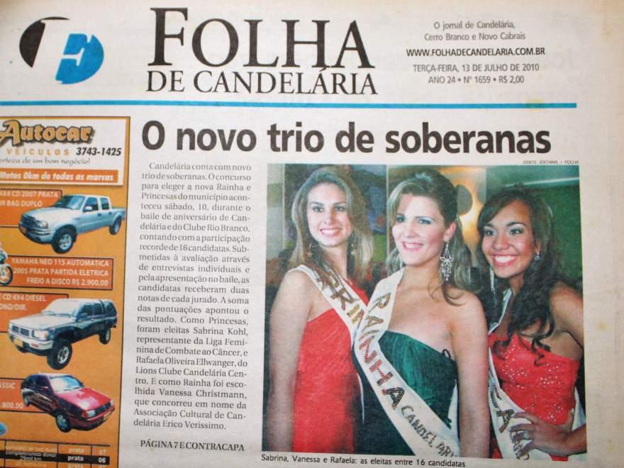 Na Folha, destaque para as vencedoras de 2010