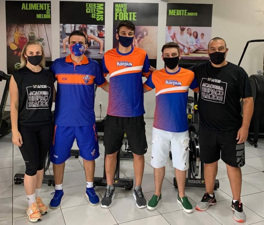 A equipe da Korpus/Academia Espaço Saúde de Cerro Branco