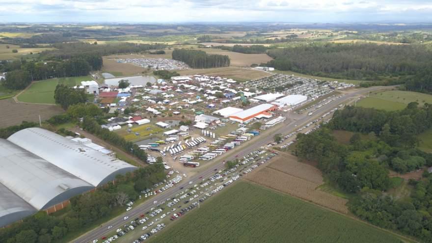 Vista aérea do Parque da Expoagro em Rio Pardo