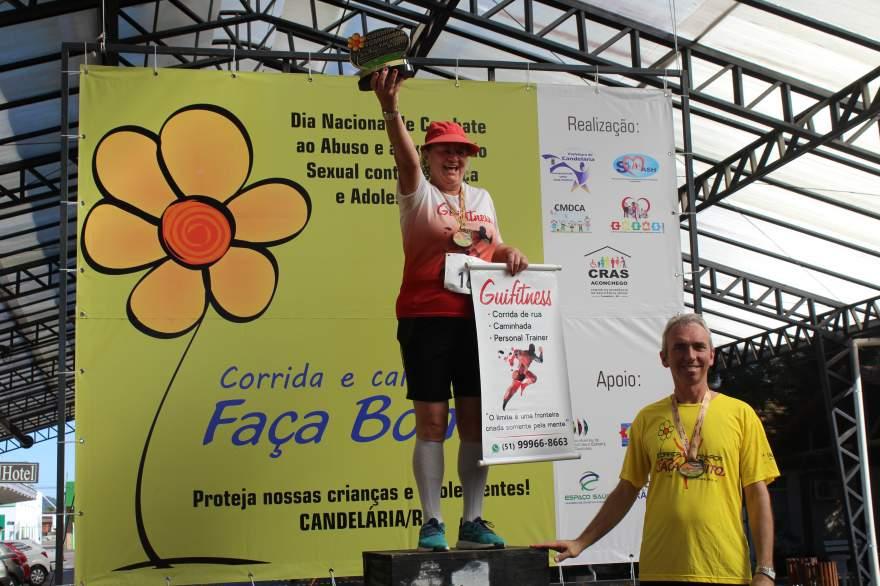 Premiação acima de 65 anos feminino 4km