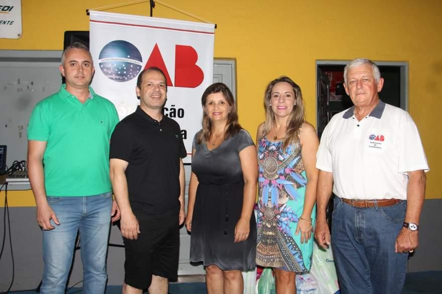 Organizadores do evento diretoria da OAB Dionatan, Joel, Giovana, Iáskara e Rogério