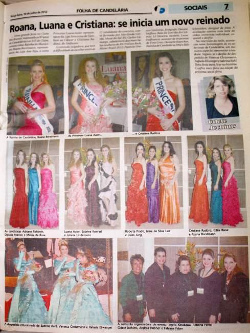Na Folha, destaque para as vencedoras de 2012