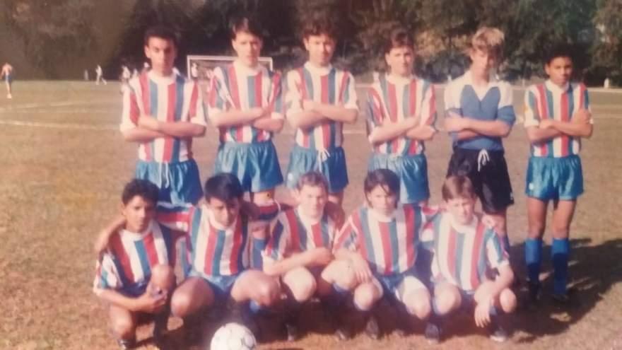 A equipe juvenil do Atlético em amistoso em Minas Gerais - Arquivo Rodolfo Feldmann