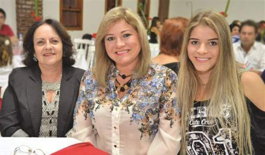 Sonia Pereira, Ellen Spengler e a filha Evelyn Spengler