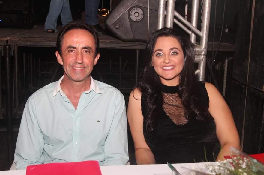 Os jurados Sanderlei e Alexandra Bini