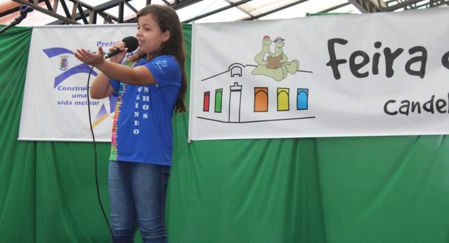 A apresentação de Emanuela de Moura Flôres, primeira colocada na categoria mirim