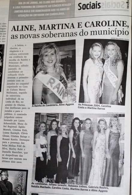 Na Folha, destaque para as vencedoras de 2004
