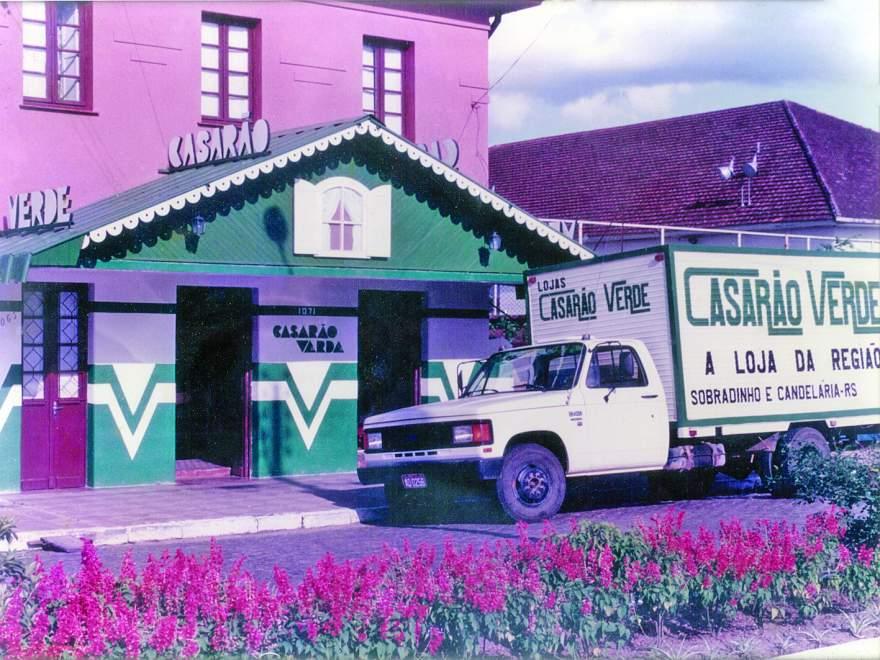 A primeira loja do Casarão Verde em Candelária foi instalada na Avenida Pereira Rego, ao lado do Clube Rio Branco
