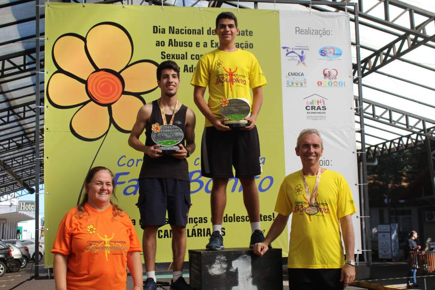 Premiação 16/19 anos masculino 4km
