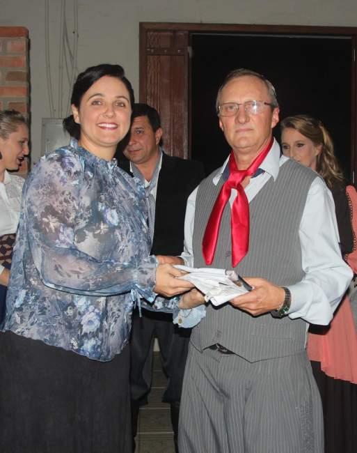 Alexandra Bini e o novo patrão Rubem Rutsatz
