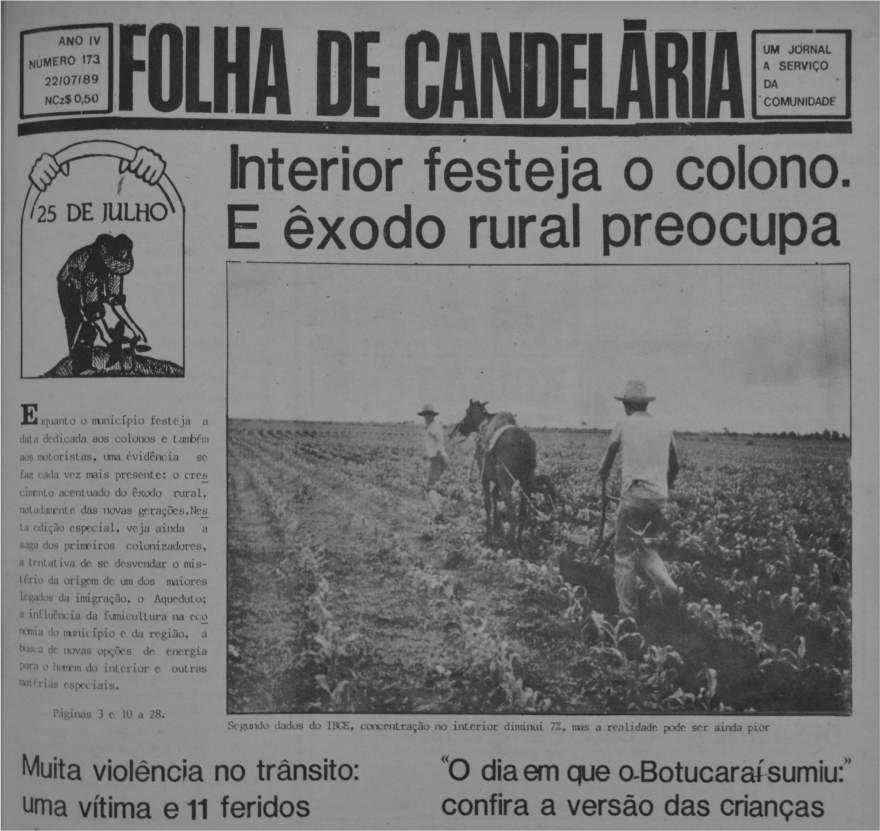 Edição de 22 de julho de 1989