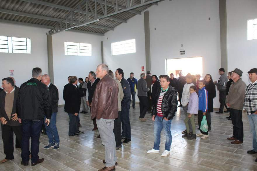 Público conheceu novo auditório do Sindicato Rural de Candelária