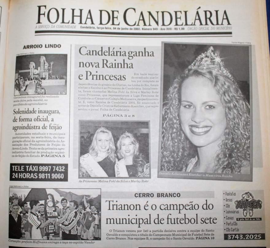 Na Folha, destaque para as vencedoras de 2002