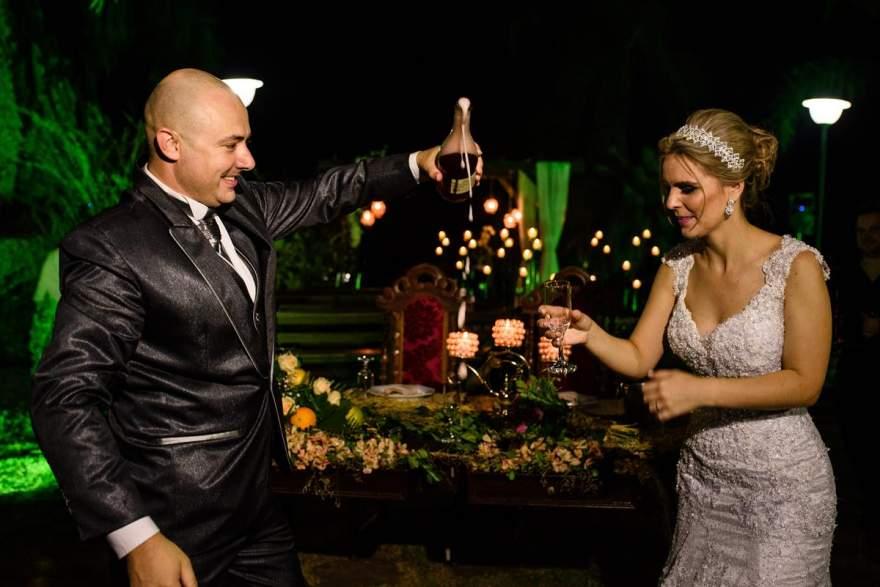 O brinde dos noivos
