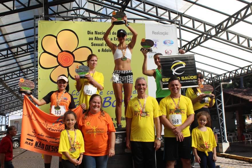 Premiação geral feminino 4km